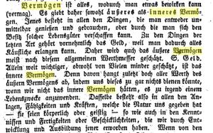 Begriff inneres Vermögen aus 1829